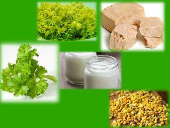 Cinci alimente miraculoase pentru asigurarea sanatatii - germenii de grau, drojdia de bere, polenul, iaurtul si patrunjelul